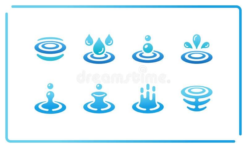 Wodny i czochra ikony set ilustracji
