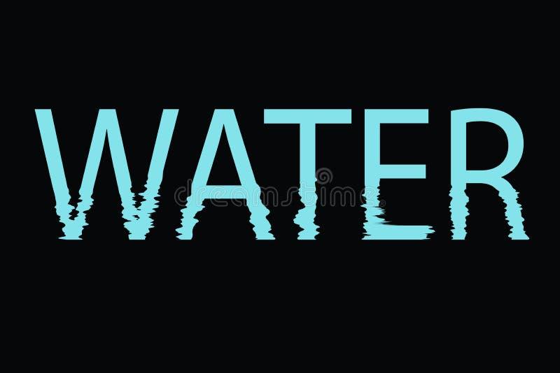 Wodny ikona logo w czarnym tle - ekologii pojęcie royalty ilustracja