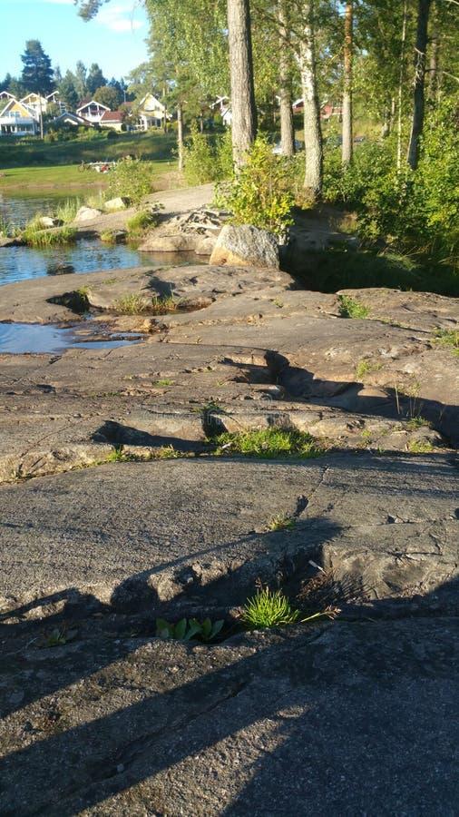 Wodny kamienny drewno zdjęcie stock