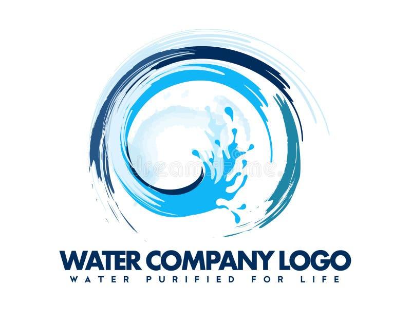 Wodny logo ilustracja wektor