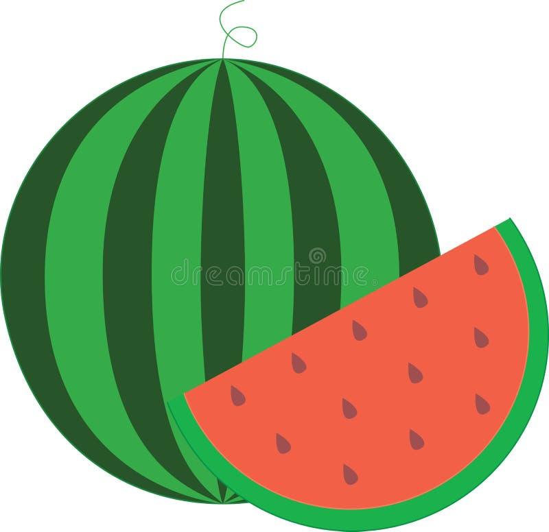 wodny melon odżywki zwarty jedzenie royalty ilustracja
