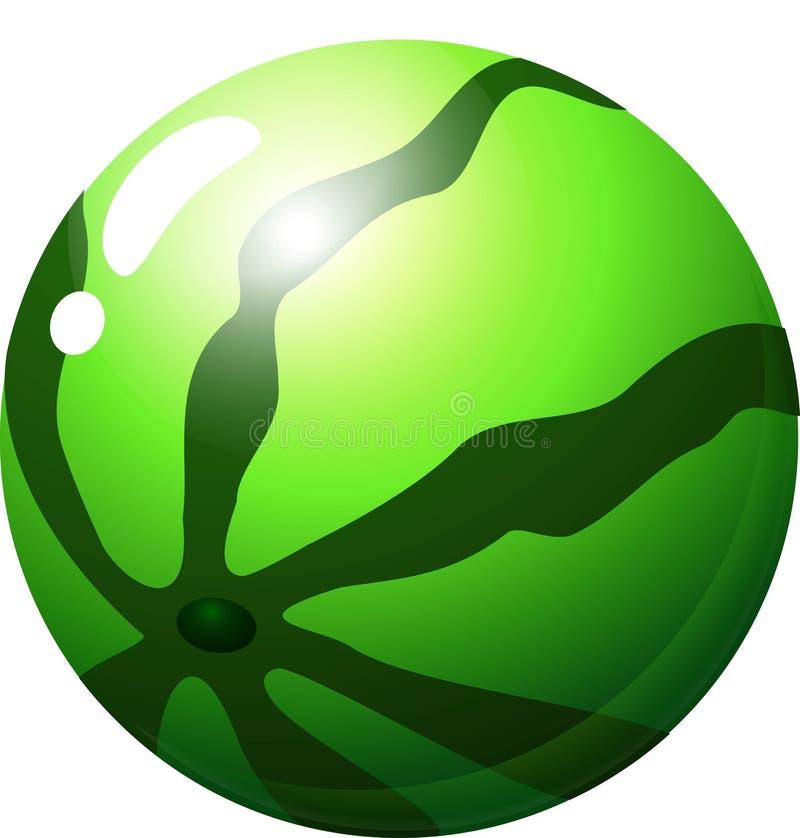 Wodny melon - owoc rzeczy dla dopasowania 3 gier ilustracji