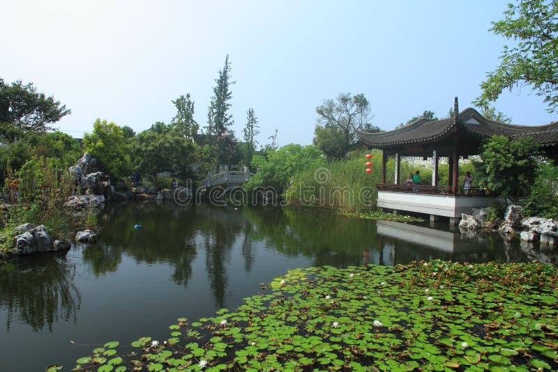 Wodny miasteczko Luzhi, Porcelanowy Suzhou tradycyjny ogród zdjęcia royalty free