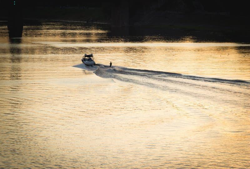 Wodny narciarstwo fotografia royalty free