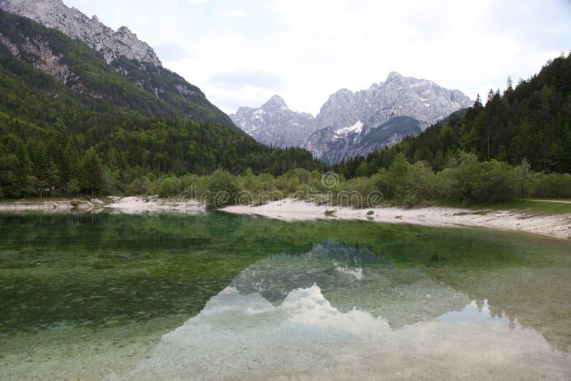 Wodny odbicie Slovenia zdjęcia stock