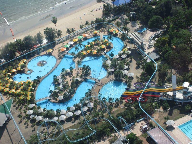 Wodny parkowy Pattaya wierza ocean fotografia stock