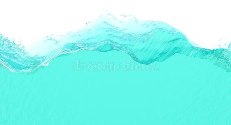 Wodny plasterek ilustracja wektor