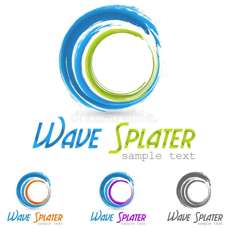 Wodny pluśnięcie logo ilustracja wektor