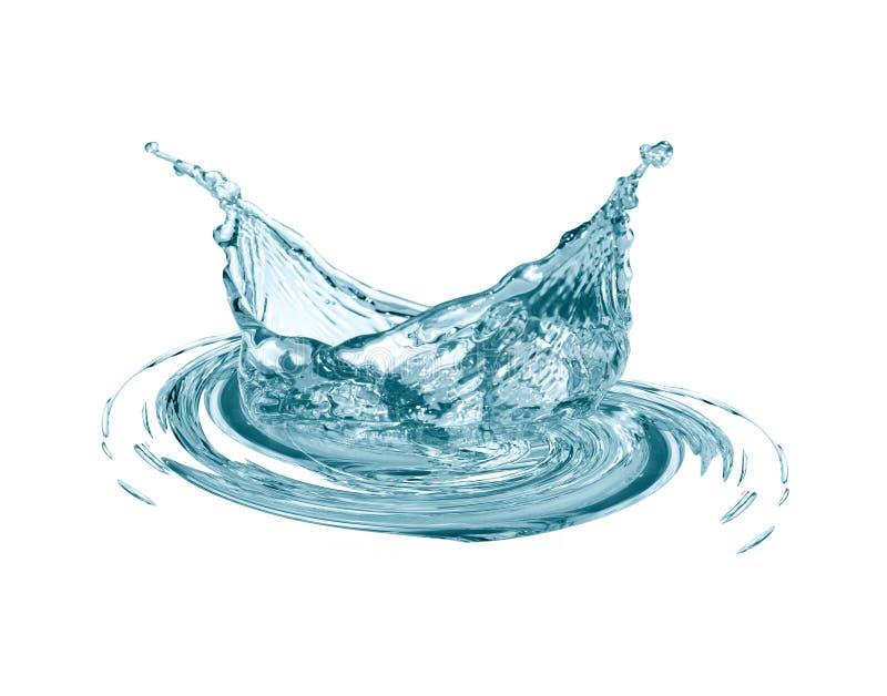 Wodny pluśnięcie na bielu fotografia royalty free