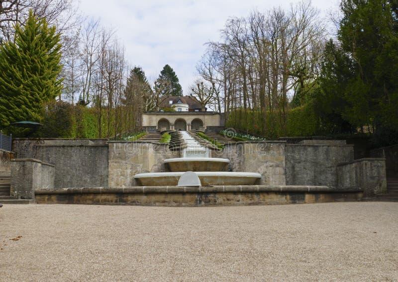 Wodny raj, jawny park z fontann? i siklawy w Baden-Baden, zdjęcie stock