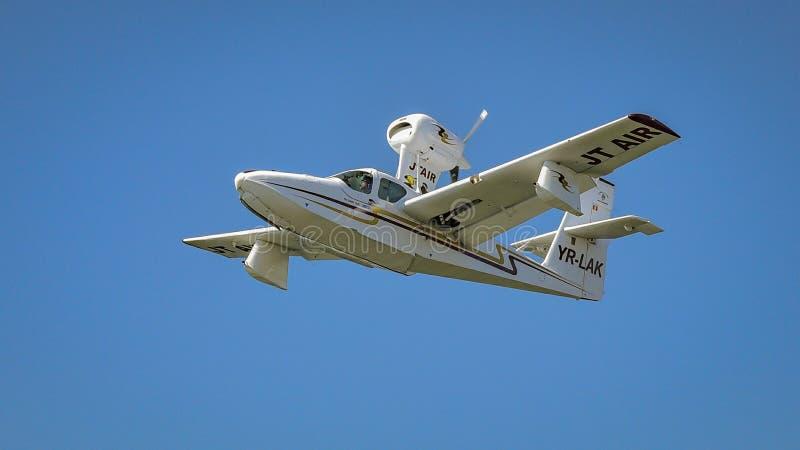 Wodny samolot przy Bucharest Aeronautycznym przedstawieniem obraz stock