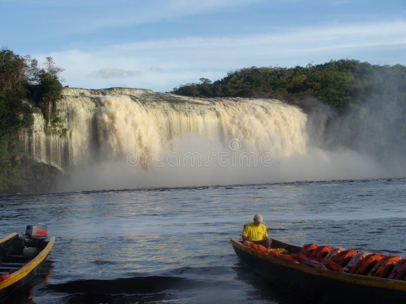 Wodny spadek w lagunie w amazonce obraz royalty free