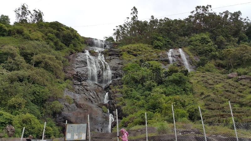 Wodny spadek w Munnar, Kerala, tamil nadu fotografia stock