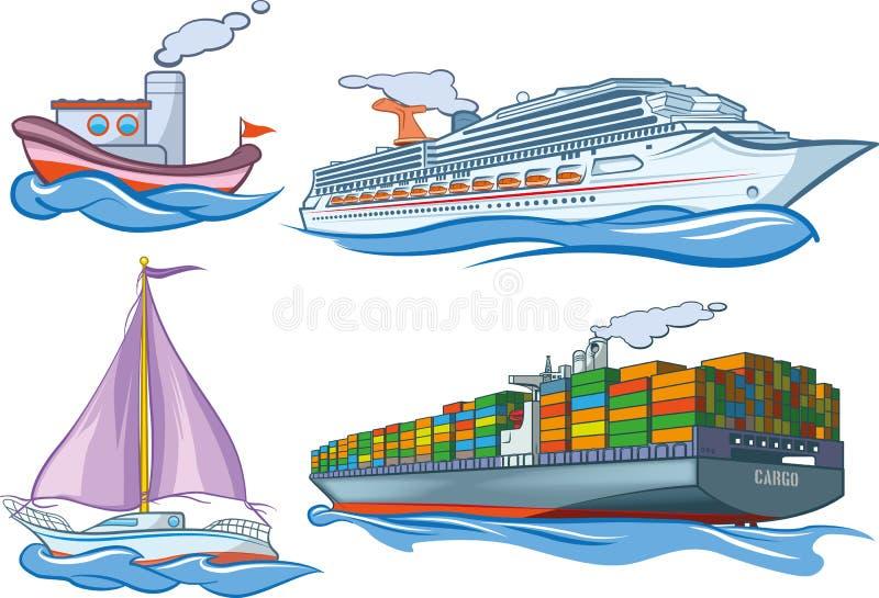 Wodny transport ilustracja wektor