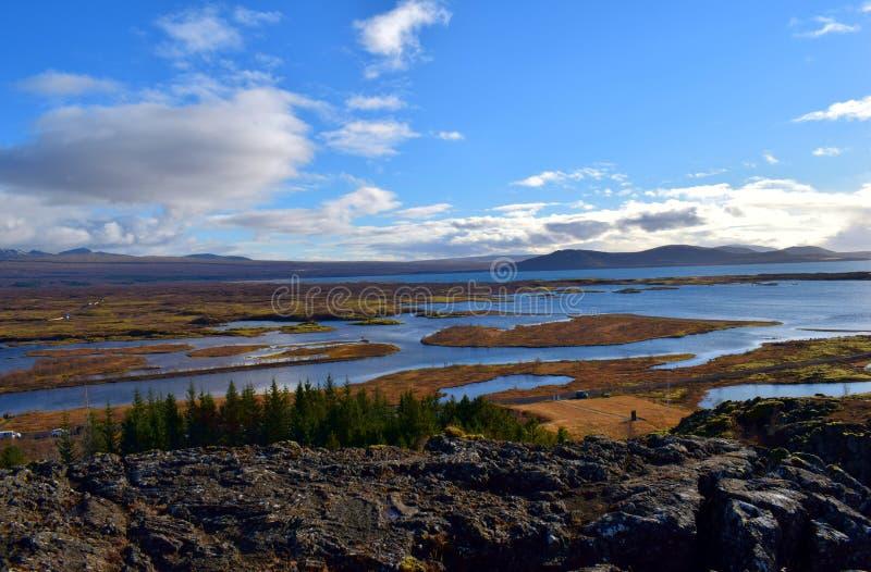 Wodny upadek w Iceland zdjęcie royalty free