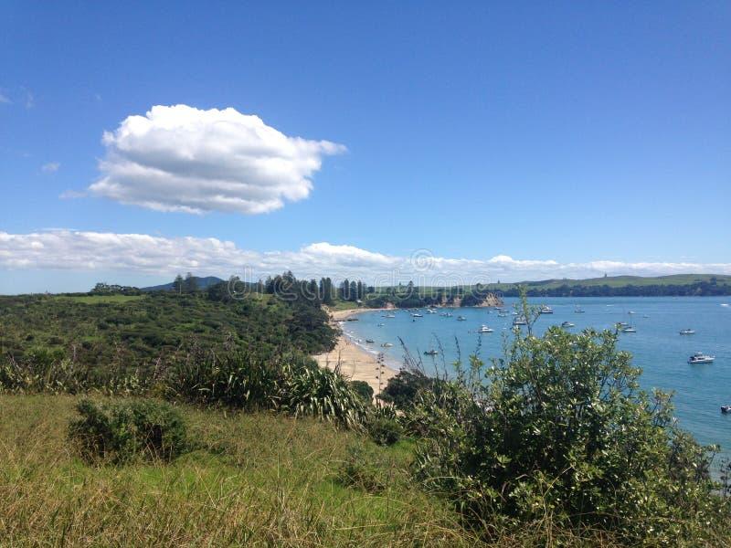 Wodny widok od Motuihe wyspy, Nowa Zelandia zdjęcie royalty free
