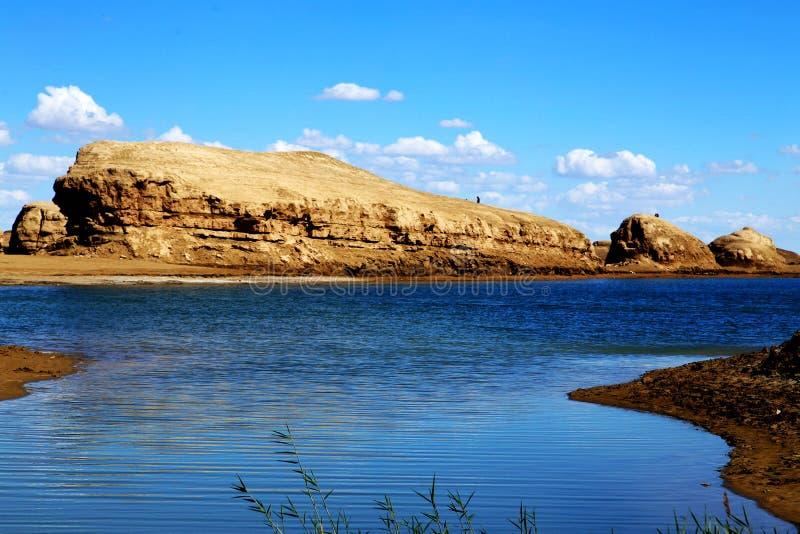 Wodny Yardang Czarci miasto światowy ` s yardang unikalny wodny landform obraz royalty free