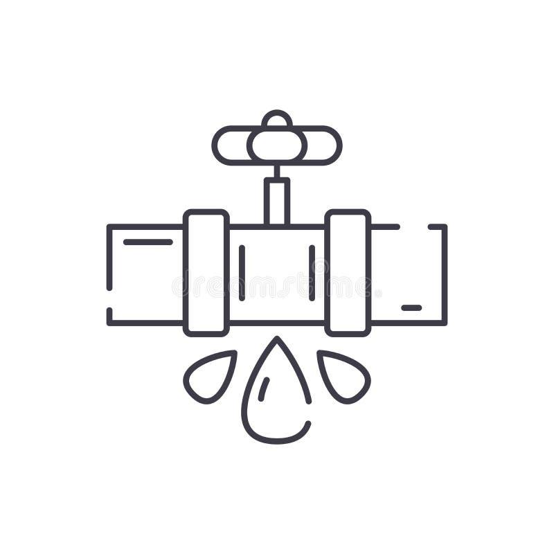 Wodnych drymb ikony kreskowy pojęcie Wodnych drymb wektorowa liniowa ilustracja, symbol, znak ilustracja wektor