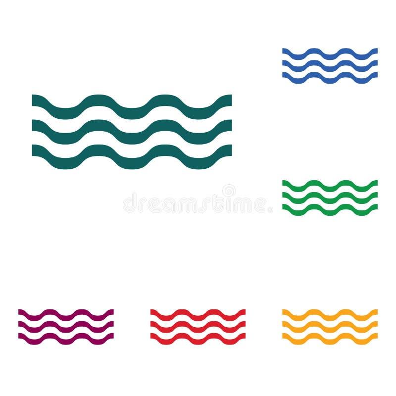 Download Wodnych fala ikona ilustracja wektor. Ilustracja złożonej z foremność - 106916021