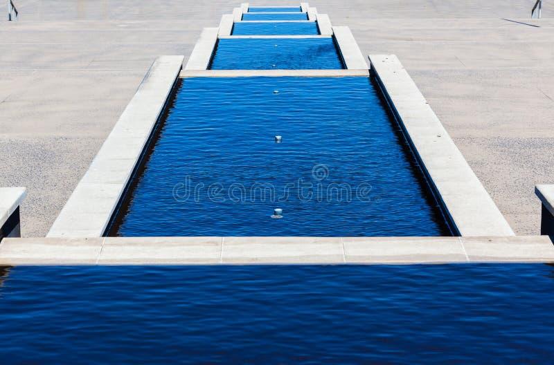 Wodnych stawów kroki obraz stock
