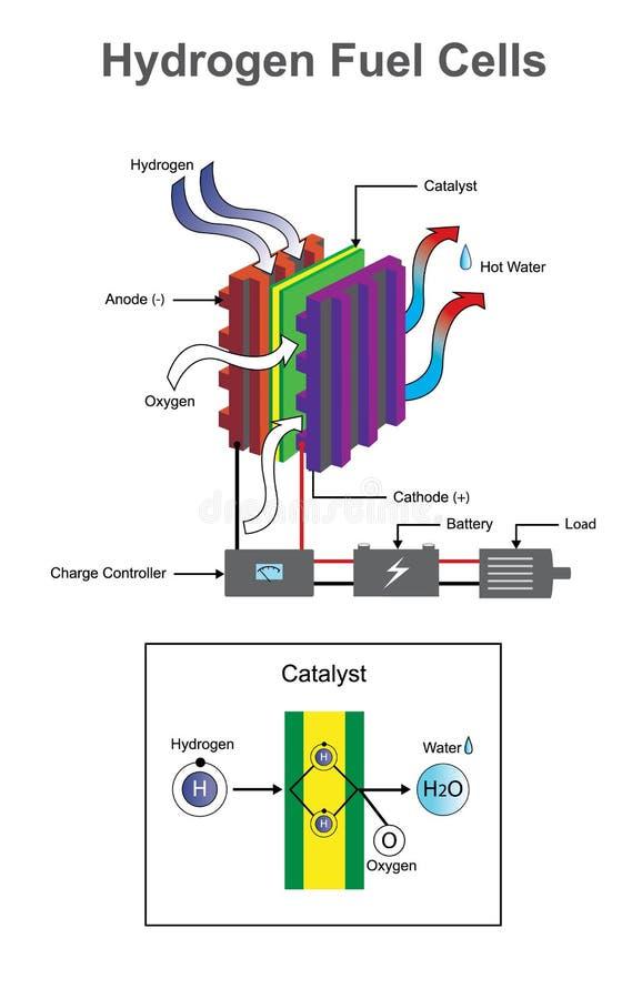 Wodorowy diagram ilustracja wektor