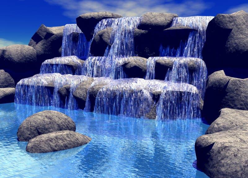 wodospad ilustracja wektor