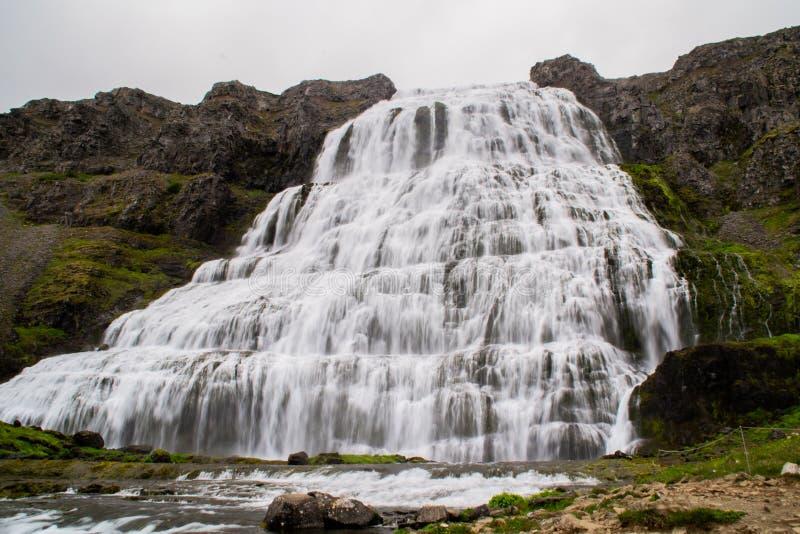 Wodospad Dynjandi, Westfjords, Islandia, Europa zdjęcia royalty free
