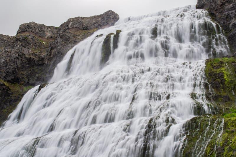Wodospad Dynjandi, Westfjords, Islandia, Europa zdjęcia stock