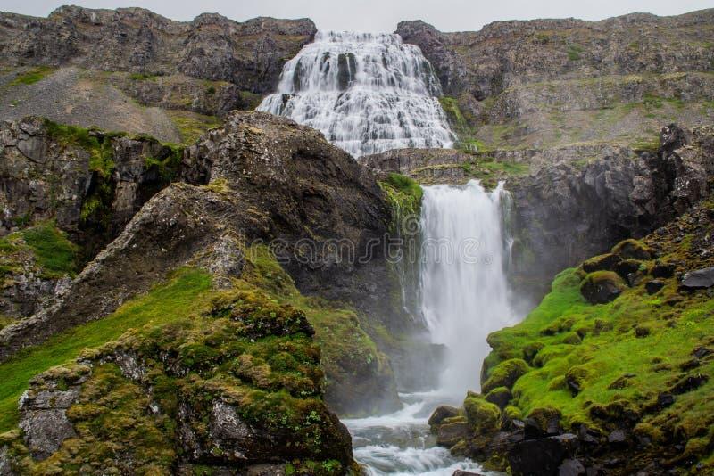 Wodospad Dynjandi, Westfjords, Islandia, Europa obraz royalty free