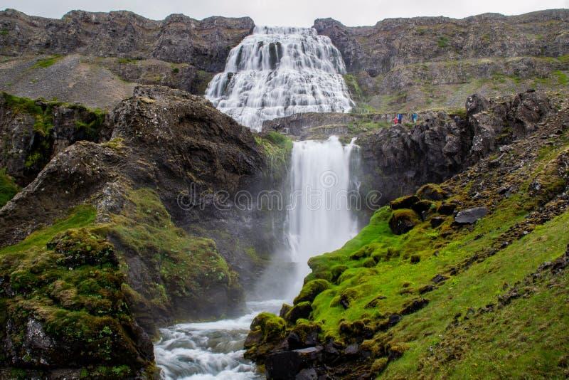 Wodospad Dynjandi, Westfjords, Islandia, Europa obrazy royalty free