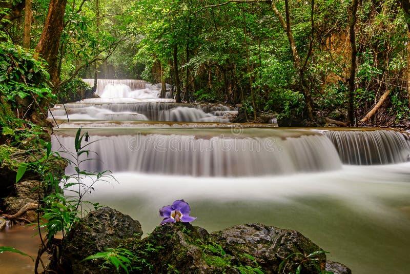 Wodospad Huai Mae Chamin obraz royalty free