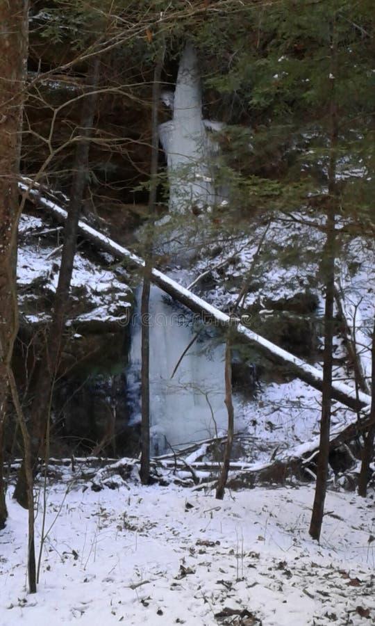 wodospad mrożone obrazy stock
