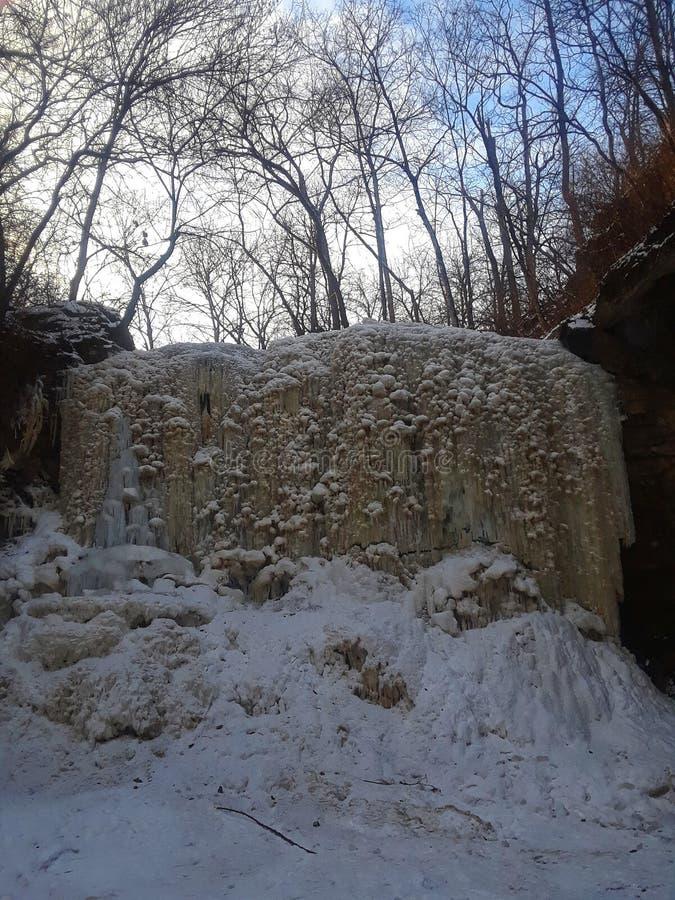 wodospad mrożone zdjęcie royalty free