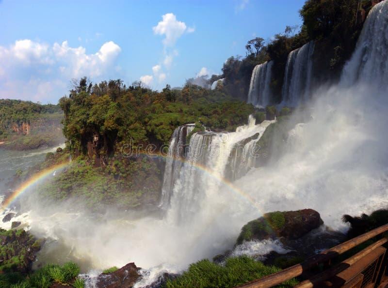 Wodospad rzeki Iguazu między Argentyną a Brazylią zdjęcia stock