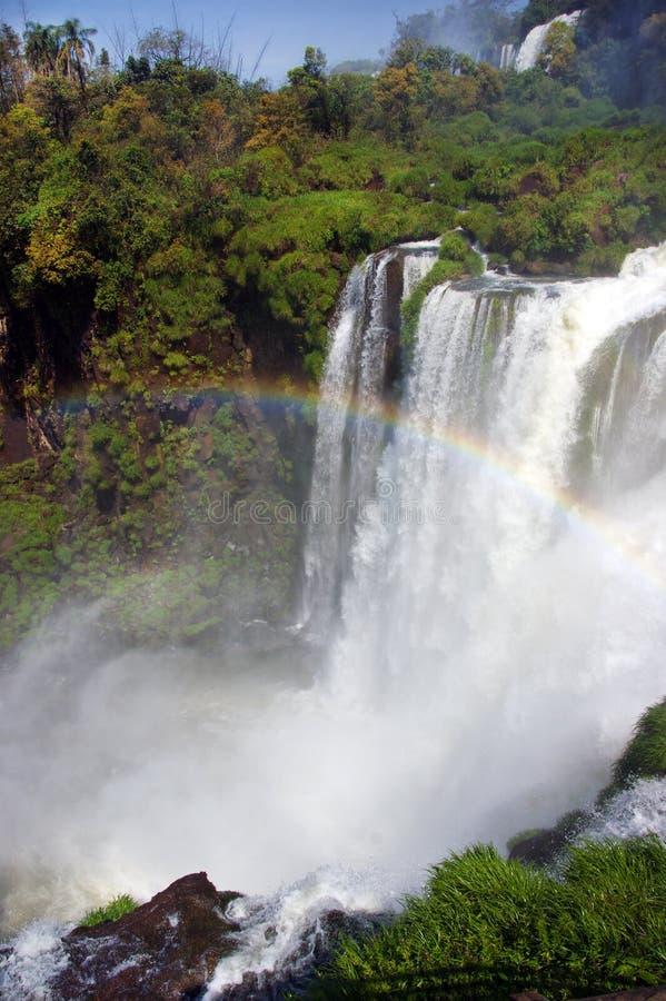 Wodospad rzeki Iguazu między Argentyną a Brazylią obrazy royalty free