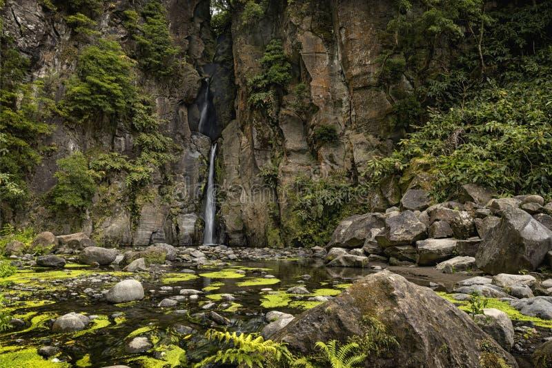 Wodospad Salto do Cabrito, Sao Miguel fotografia royalty free