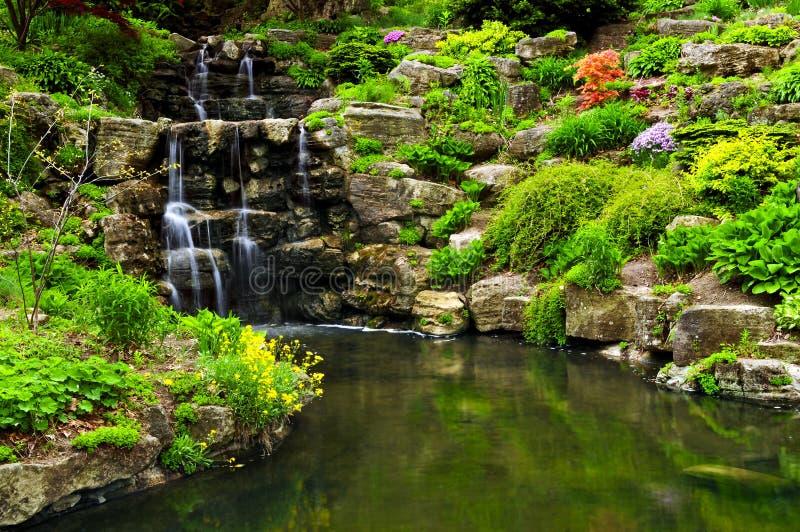 wodospad się kaskadą stawową fotografia royalty free