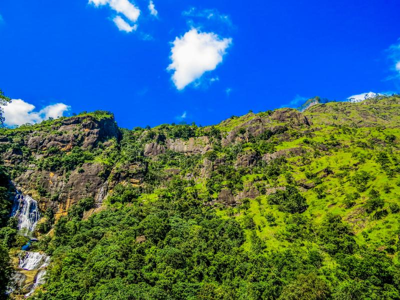 Wodospady Ella-Bandarawela, Sri Lanka obrazy royalty free