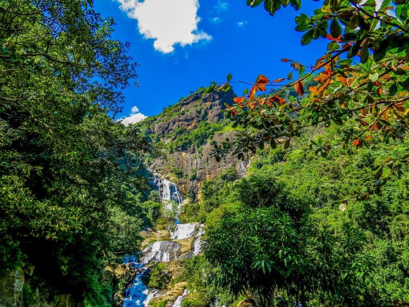 Wodospady Ella-Bandarawela, Sri Lanka zdjęcie royalty free