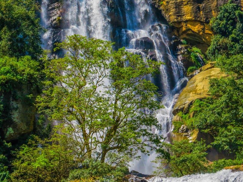 Wodospady Ella-Bandarawela, Sri Lanka zdjęcia royalty free