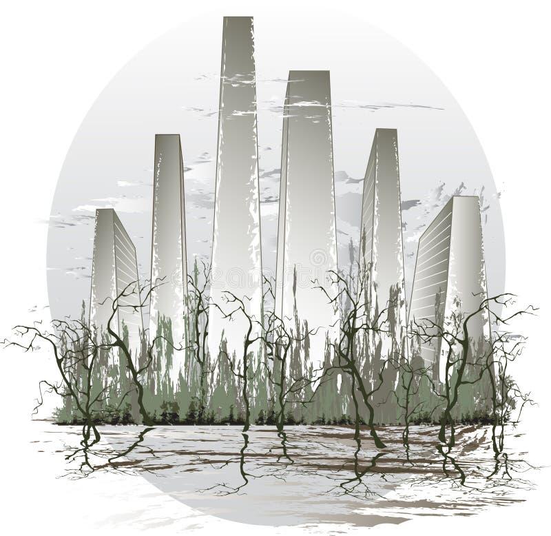 wody miejskiej ilustracja wektor