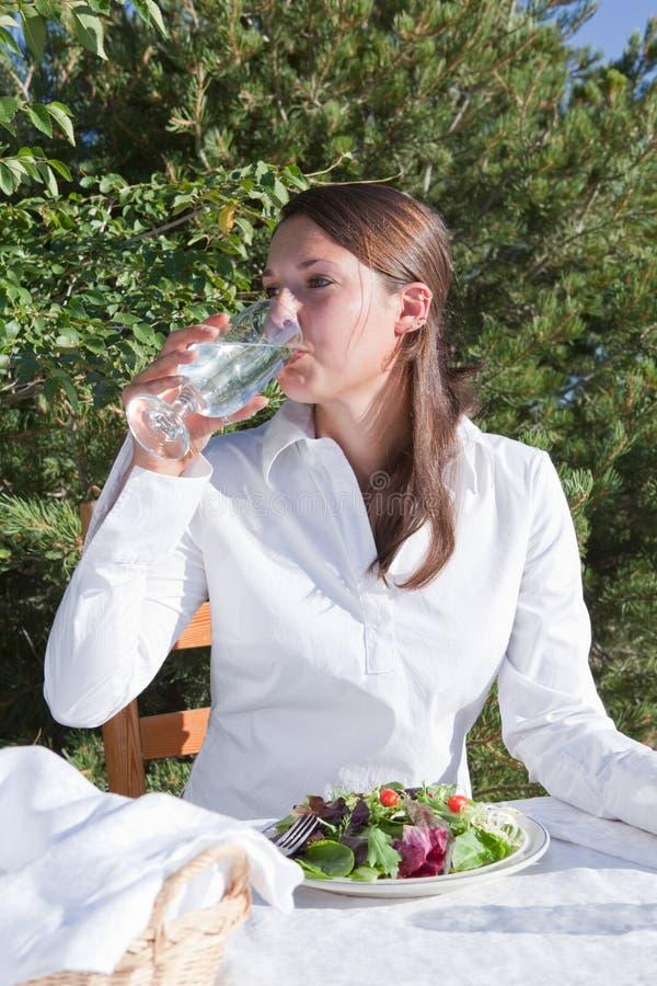 wody pitnej kobieta fotografia royalty free