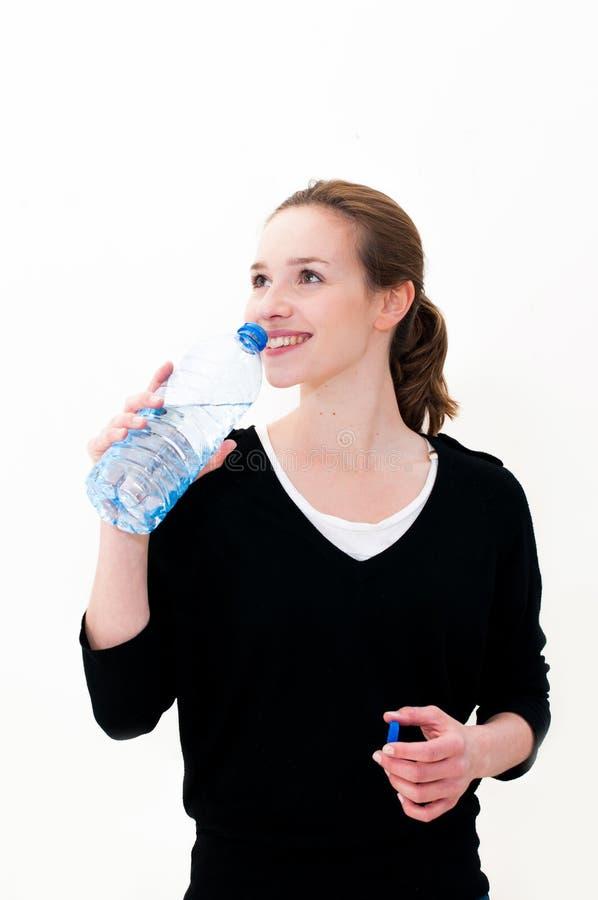 wody pitnej kobiety potomstwa obraz stock