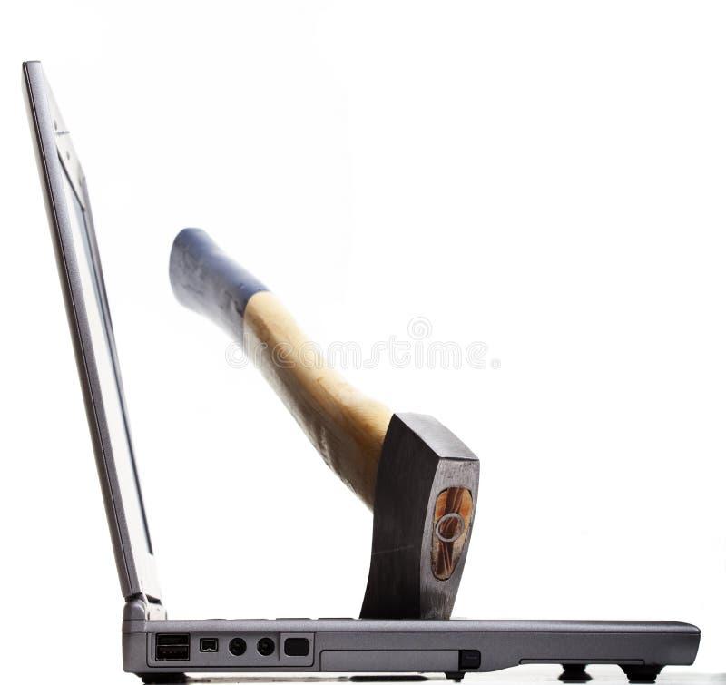 Woede tegen Computers stock afbeeldingen