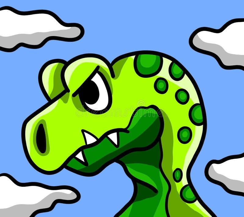 Woedend Groen T Rex stock illustratie