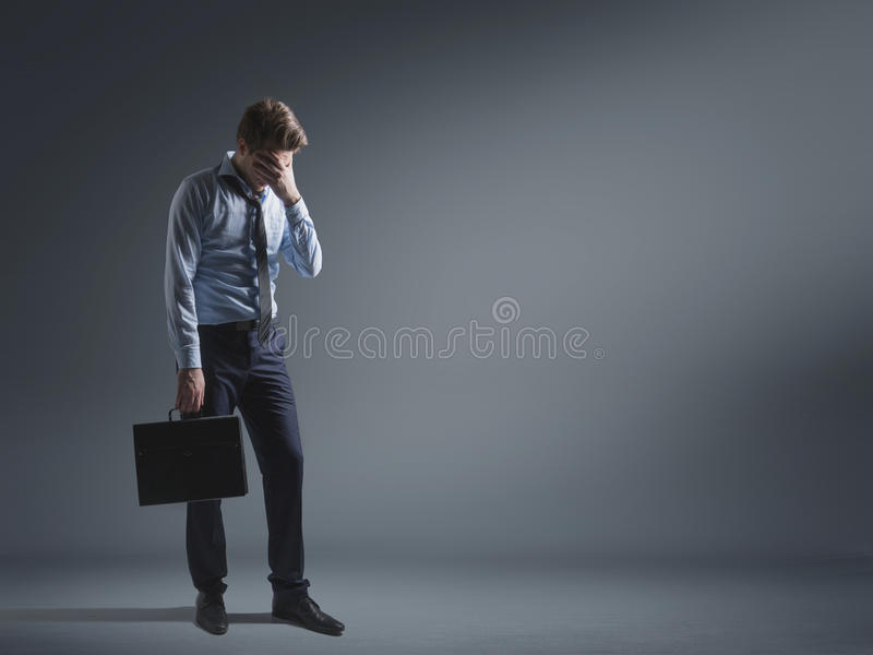 Download Woeful Businessman Lost His Career Stock Photo - Image: 40910132