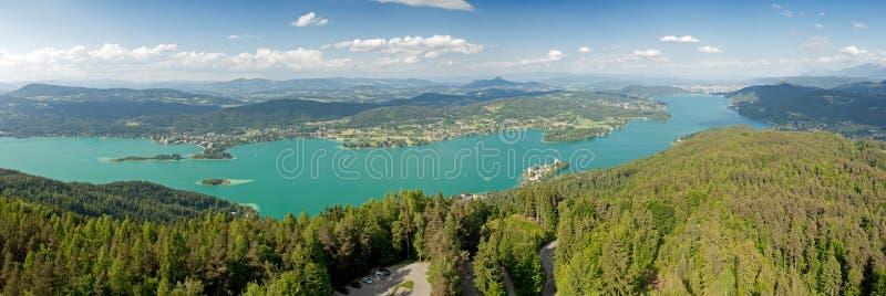 Woerthersee Lake stock image