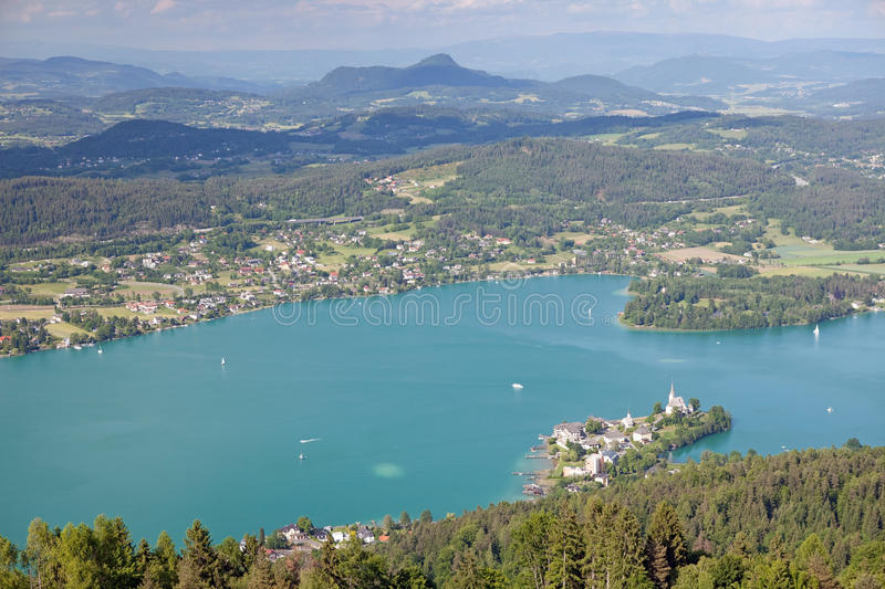 Woerthersee See stockfotos