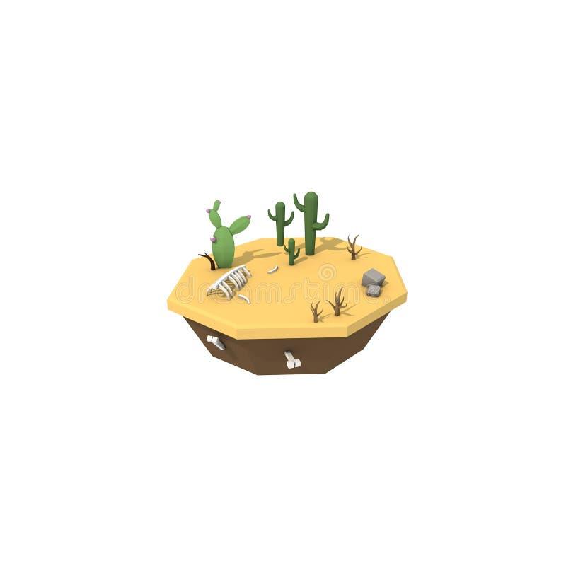 Download Woestijn stock illustratie. Illustratie bestaande uit woestijn - 107703387