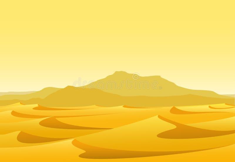 Woestijn stock illustratie